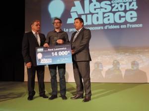 Rémi Lazarewicz reporte le second prix Alès Audace 2014